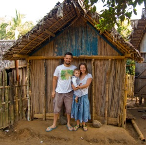 """Our hut in the village (where I read """"The Mosquito Coast"""")."""