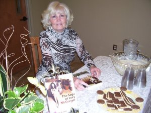 The author at a book signing.
